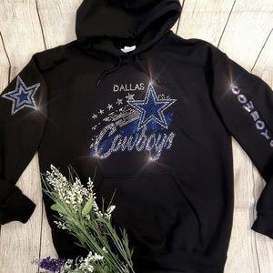 New Dallas Cowboys Rhinestone Hoodie all sizes